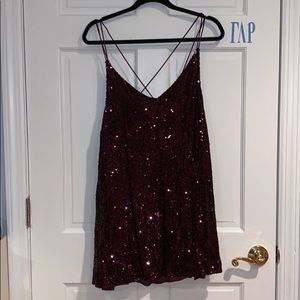 Free People Purple Sequin Mini dress